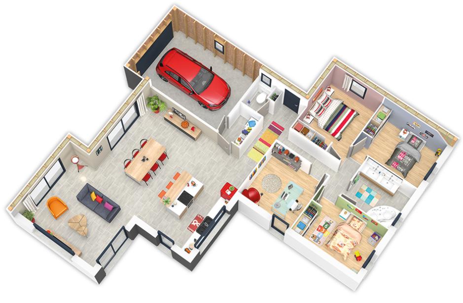 Nouveau modèle de maison ossature bois : la Natimix | Natilia Var