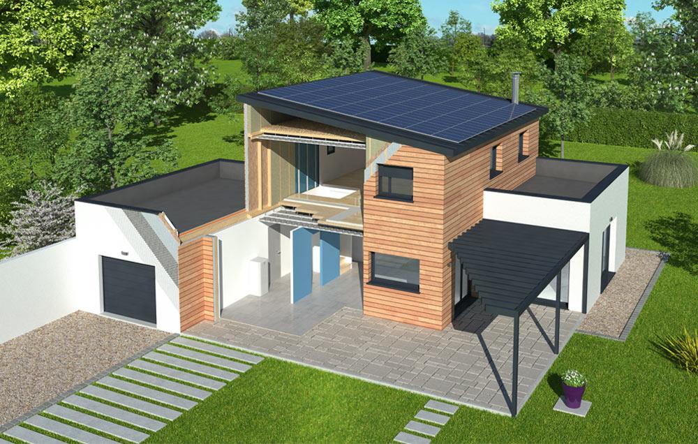 découvrez la première maison à énergie positive ossature bois natilia