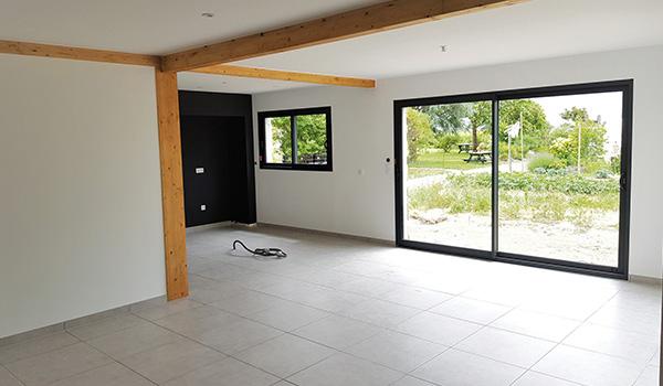 Intérieur d'une maison Natilia terminée près de Nantes
