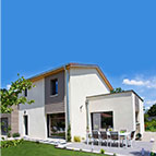 maison contemporaine natilia avec une toiture mixte