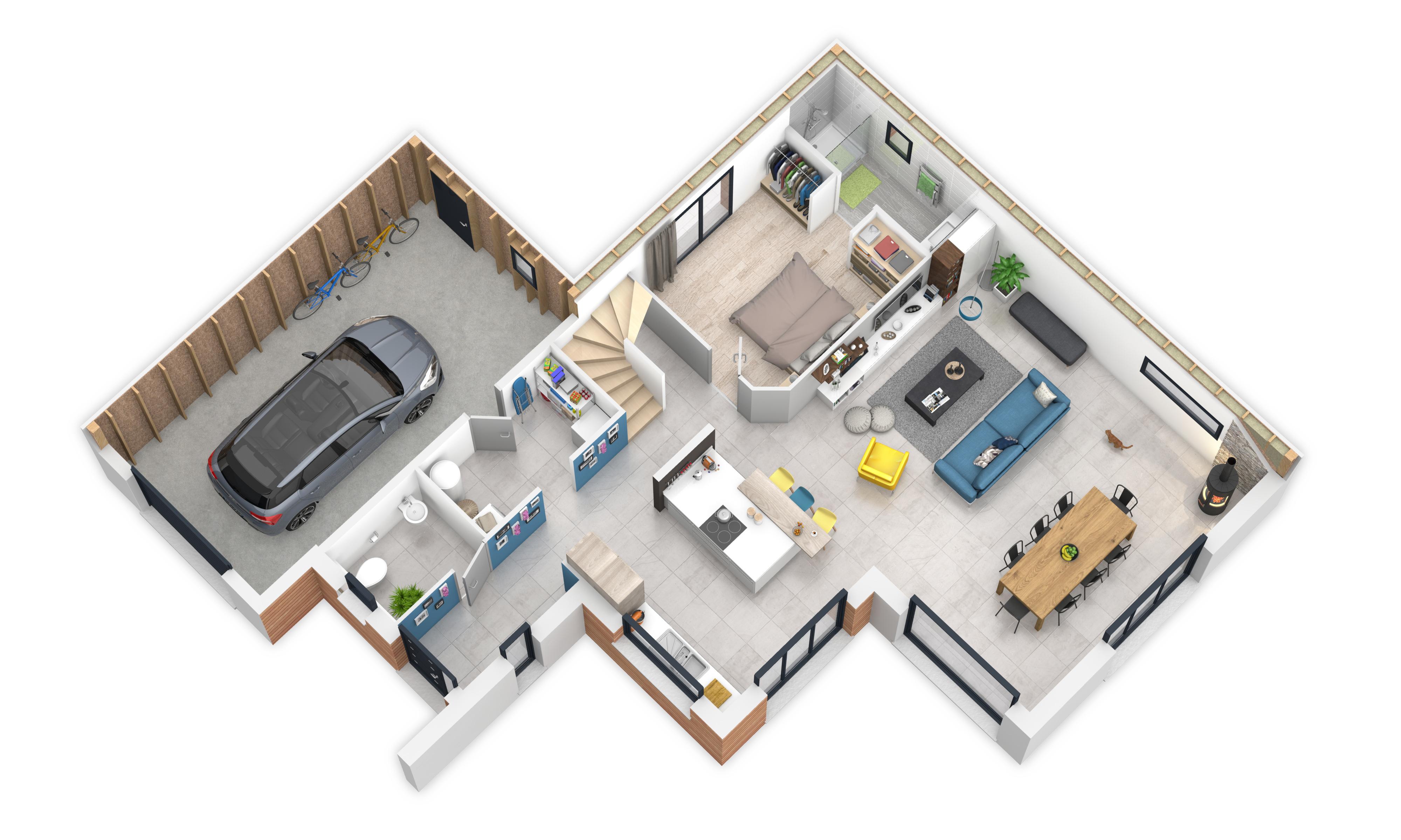 maison individuelle RDC environnementale