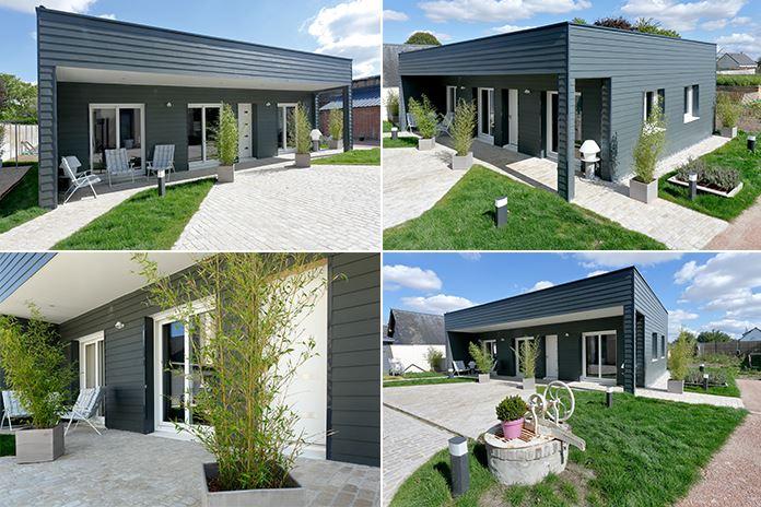Différentes vues de la maison bois Natilia pour D&CO