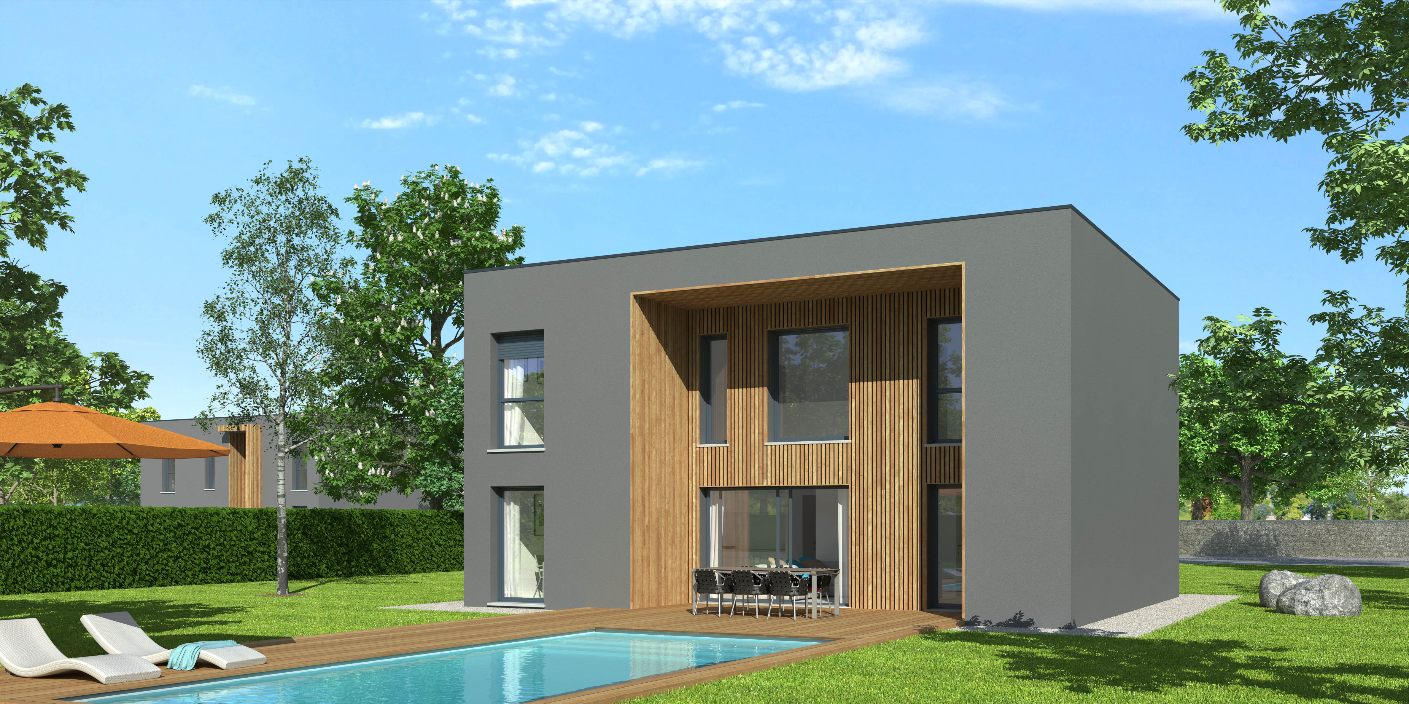 Constructeur Maison Ossature Bois 76 plan maison ossature bois natiswood contemporaine |natilia