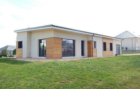 construction maison bois contemporaine toit plat 1