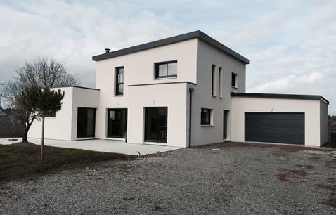 maison contemporaine moderne bois var 1