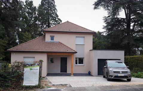 maison ossature bois contemporaine 78730
