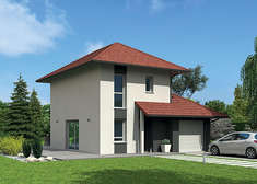 maison ossature bois natiming platesrouge 4pans vueav natilia
