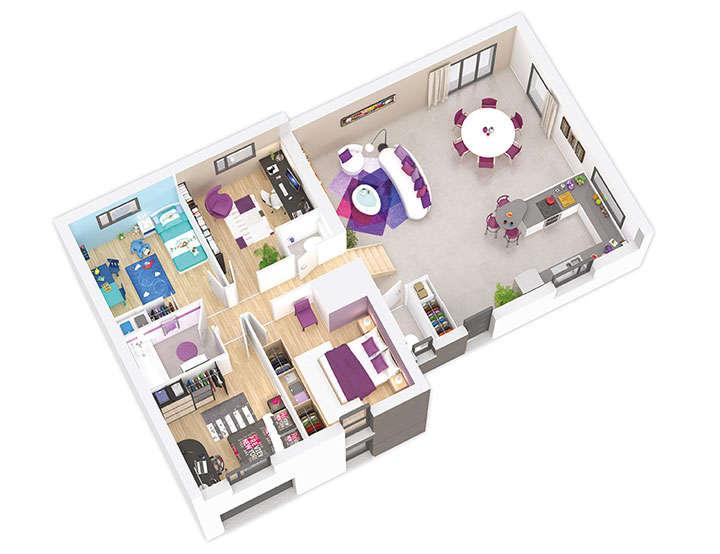 maison ossature bois plan naticea etage natilia 1