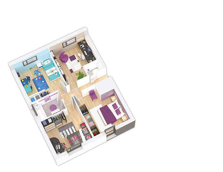 maison ossature bois plan naticea etage 2 natilia