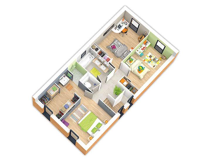 maison ossature bois plan naticube etage natilia
