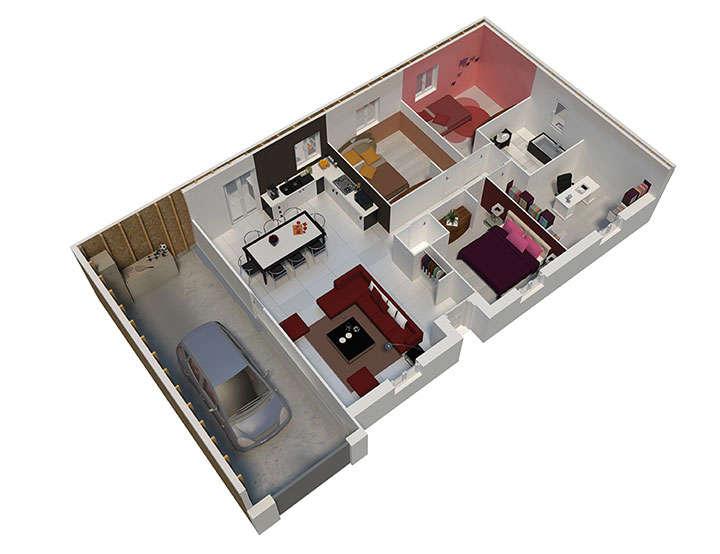 maison ossature bois plan natigao rdc natilia