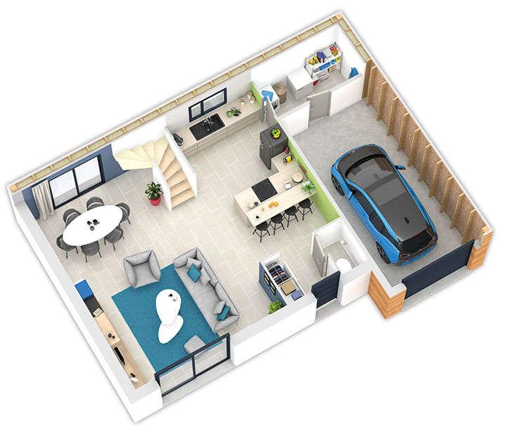 maison ossature bois plan natiline rdc natilia 4