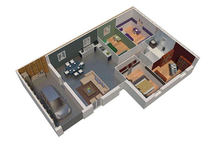 maison ossature bois plan natilys natilia 5