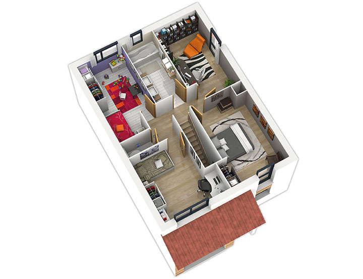 maison ossature bois plan natirane etage natilia 1