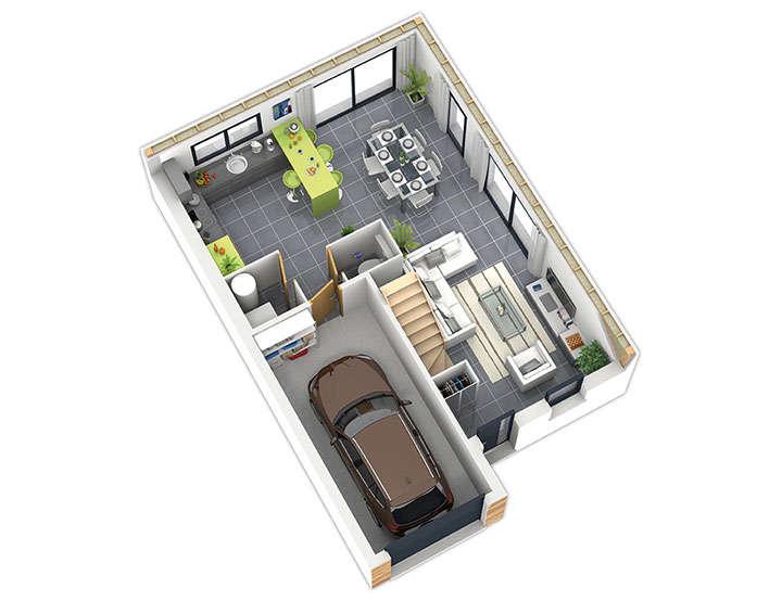 maison ossature bois plan natirane rdc natilia 1