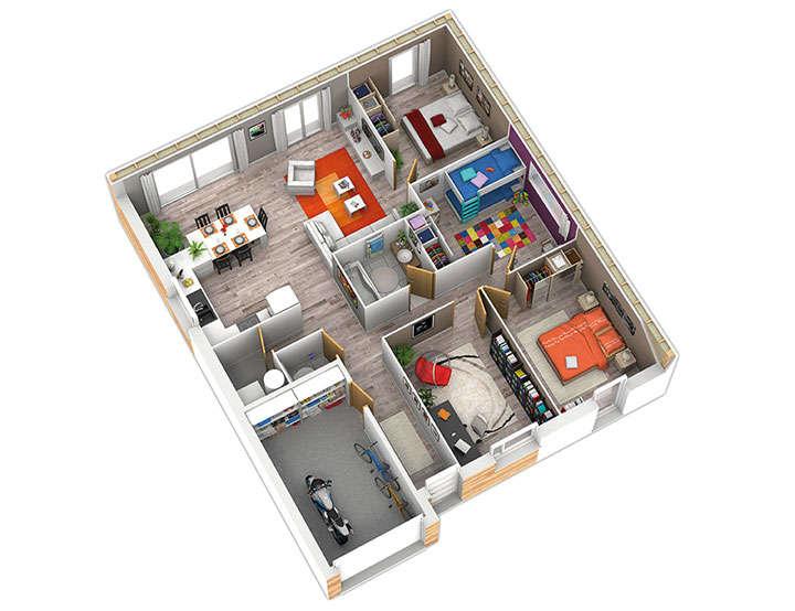 maison ossature bois plan natirena int natilia 1