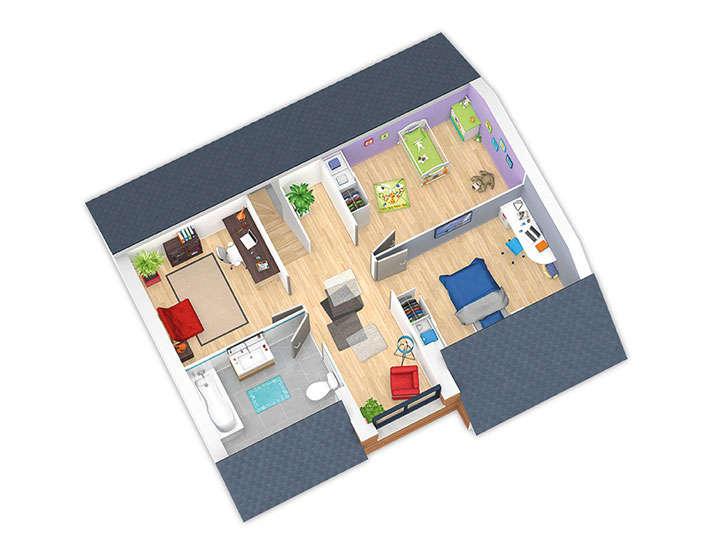 maison ossature bois plan natirey etage hd natilia