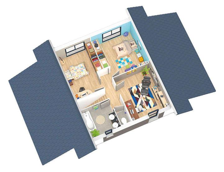 maison ossature bois plan natival etage natilia