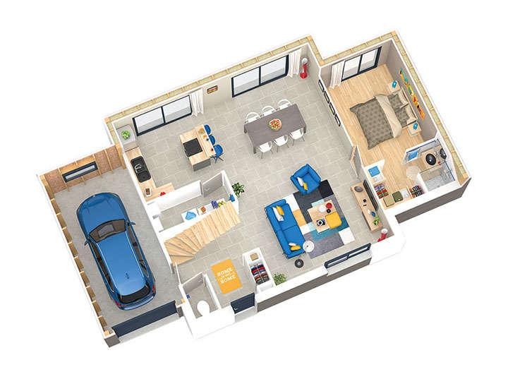 maison ossature bois plan natival rdc natilia